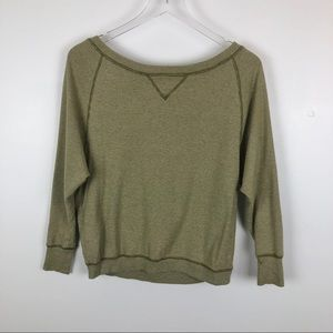 Madewell Hi-line Oversized Thermal Top Size Small